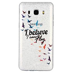 voordelige Galaxy J5(2017) Hoesjes / covers-hoesje Voor Samsung Galaxy J7 (2017) / J7 (2016) / J5 (2017) Doorzichtig / Patroon Achterkant Woord / tekst / Cartoon / Glitterglans Zacht TPU