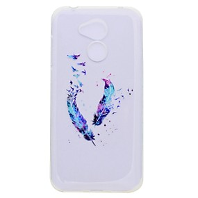 voordelige Huawei Honor hoesjes / covers-hoesje Voor Huawei Honor 9 / Huawei Honor 9 Lite / Honor 8 Transparant / Patroon Achterkant Veren Zacht TPU