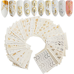 ieftine Îngrijire Unghii-30 pcs Sfaturi utile artificiale Nail Art Kit Acțibilde nail art pedichiura si manichiura Draguț / Reparații Decals pentru unghii