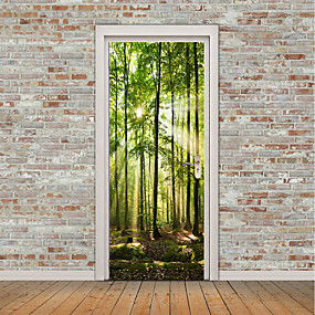povoljno Ukrasne naljepnice-Pejzaž Mrtva priroda Zid Naljepnice Zidne naljepnice 3D zidne naljepnice Dekorativne zidne naljepnice Vrata za vrata, Vinil Početna