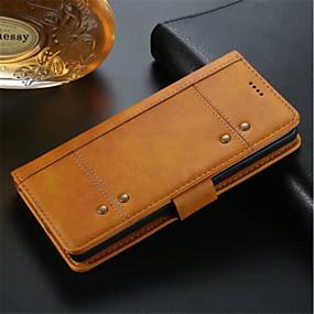 Недорогие Чехлы и кейсы для Galaxy Note 8-Кейс для Назначение SSamsung Galaxy Note 8 Кошелек / Бумажник для карт / Защита от удара Чехол Однотонный Твердый Кожа PU