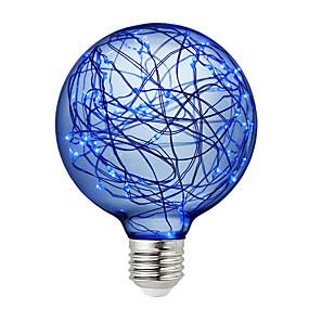 olcso LED gömbbúrás izzók-BRELONG® 1db 3 W LED gömbbúrás izzók 300 lm E26 / E27 95 LED gyöngyök SMD Dekoratív Piros Kék Zöld 220-240 V