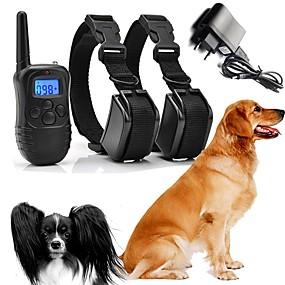 halpa Lemmikkieläinten Tarvikkeita-Koirat bark Collar Koiran treenauspannat Vedenkestävä Ladattava Muovit Nylon Musta 2 osainen