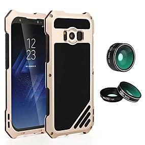 voordelige Galaxy S7 Hoesjes / covers-hoesje Voor Samsung Galaxy S8 Plus / S8 / S7 edge Schokbestendig / Schild Volledig hoesje Effen Hard Metaal