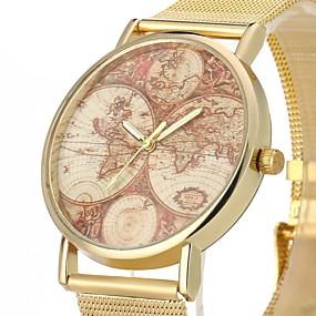 Недорогие Фирменные часы-JUBAOLI Муж. Повседневные часы Кварцевый Золотистый Повседневные часы Cool Аналоговый Золотой