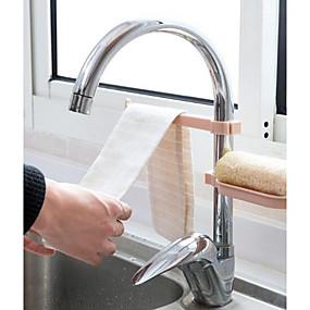 رخيصةأون ترتيب الجدران و المطبخ-1SET الرفوف وشمعدانات البلاستيك مخزن