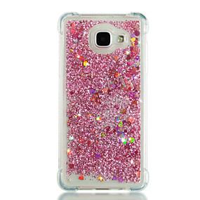 billige Galaxy A5(2016) Etuier-Etui Til Samsung Galaxy A3 (2017) / A5 (2017) / A7 (2017) Stødsikker / Flydende væske / Glitterskin Bagcover Hjerte / Glitterskin Blødt TPU