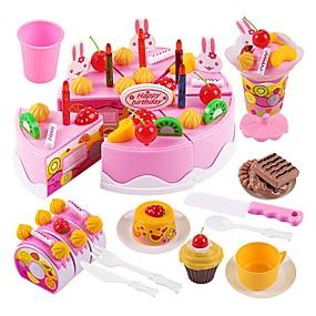 olcso Klasszikus játékok-Játék konyha készletek Szerepjátékok Ünneő Család Torta Tökéletes Szülő-gyermek interakció Gyermek Fiú Lány Játékok Ajándék 75 pcs