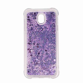 voordelige Galaxy J7(2017) Hoesjes / covers-hoesje Voor Samsung Galaxy J7 (2017) / J7 (2016) / J7 Schokbestendig / Glitterglans Achterkant Glitterglans / Kleurgradatie Zacht TPU