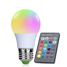 olcso LED okos izzók-1db 3 W Okos LED izzók 250 lm E26 / E27 10 LED gyöngyök SMD 5050 Infravörös érzékelő Tompítható Távvezérlésű RGBW 85-265 V / RoHs / FCC