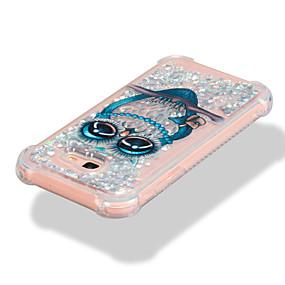 olcso Galaxy A7(2017) tokok-Case Kompatibilitás Samsung Galaxy A3 (2017) / A5 (2017) / A7 (2017) Ütésálló / Folyékony / Minta Fekete tok Bagoly / Csillogó Puha TPU