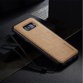 voordelige Galaxy S7 Edge Hoesjes / covers-hoesje Voor Samsung Galaxy S8 Plus / S8 / S7 edge Schokbestendig / Ultradun / DHZ Achterkant Effen Hard PU-nahka