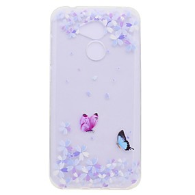 voordelige Huawei Honor hoesjes / covers-hoesje Voor Huawei Honor 9 / Huawei Honor 9 Lite / Honor 8 Transparant / Patroon Achterkant Vlinder Zacht TPU