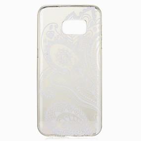 olcso Galaxy S7 tokok-Case Kompatibilitás Samsung Galaxy S8 Plus / S8 / S7 edge Minta Fekete tok Virág Puha TPU
