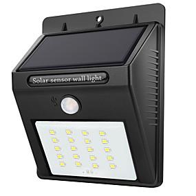 olcso Napelemes LED világítás-1db 2 W LED napelemes világítás Vízálló / Infravörös érzékelő / fényvezérlő Fehér 3.7 V Kültéri világítás 20 LED gyöngyök