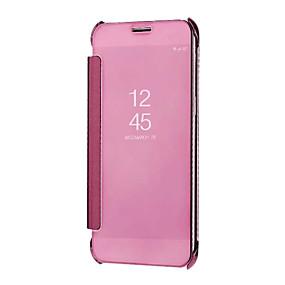 voordelige Galaxy A3(2016) Hoesjes / covers-hoesje Voor Samsung Galaxy A5(2018) / Galaxy A7(2018) / A3 (2017) Spiegel / Auto Slapen / Ontwaken Volledig hoesje Effen Hard PC