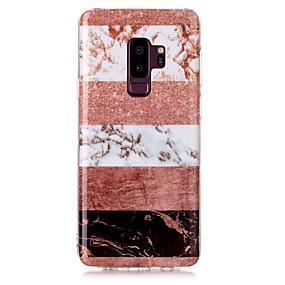 voordelige Galaxy S7 Hoesjes / covers-hoesje Voor Samsung Galaxy S9 / S9 Plus / S8 Plus IMD / Patroon Achterkant Glitterglans / Marmer Zacht TPU