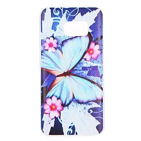 olcso Galaxy S7 tokok-Case Kompatibilitás Samsung Galaxy S8 Plus / S8 / S7 edge Minta Fekete tok Pillangó / Virág Puha TPU