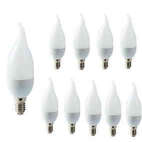ieftine Becuri LED Lumânare-10pcs 2 W Becuri LED Lumânare 200 lm E14 C35L 10 LED-uri de margele SMD 2835 Crăciun decor de nunta Alb Cald Alb Rece 220-240 V / RoHs