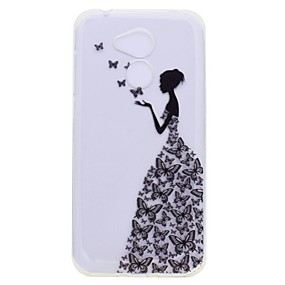 voordelige Huawei Honor hoesjes / covers-hoesje Voor Huawei Honor 9 / Huawei Honor 9 Lite / Honor 8 Transparant / Patroon Achterkant Sexy dame Zacht TPU