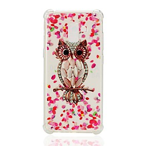 voordelige Galaxy A7(2016) Hoesjes / covers-hoesje Voor Samsung Galaxy A3 (2017) / A5 (2017) / A7 (2017) Schokbestendig / Patroon Achterkant Uil Zacht TPU