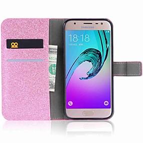 voordelige Galaxy J3 Hoesjes / covers-hoesje Voor Samsung Galaxy J7 (2017) / J7 (2016) / J5 (2017) Portemonnee / Kaarthouder / Strass Volledig hoesje Vlinder Hard PU-nahka