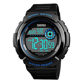 Недорогие Фирменные часы-SKMEI Муж. Спортивные часы электронные часы Цифровой На каждый день Защита от влаги Стеганная ПУ кожа Черный / Зеленый Цифровой - Черный Красный Синий Один год Срок службы батареи / Японский