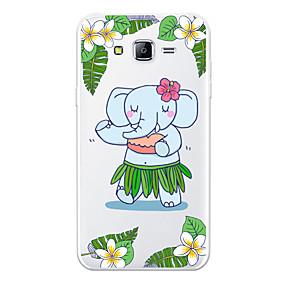 voordelige Galaxy J5(2017) Hoesjes / covers-hoesje Voor Samsung Galaxy J7 (2017) / J7 (2016) / J7 Patroon Achterkant dier / Cartoon / Olifant Zacht TPU