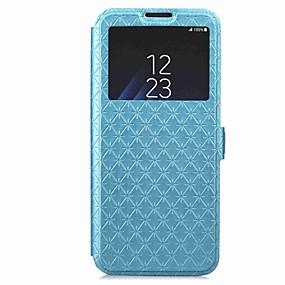 voordelige Galaxy S6 Edge Plus Hoesjes / covers-hoesje Voor Samsung Galaxy S9 / S9 Plus / S8 Plus Portemonnee / Kaarthouder / met standaard Volledig hoesje Geometrisch patroon Hard PU-nahka