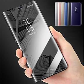 voordelige Galaxy S6 Edge Plus Hoesjes / covers-hoesje Voor Samsung Galaxy S9 / S9 Plus / S8 Plus met standaard / Spiegel Volledig hoesje Effen Hard PC