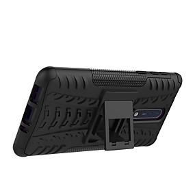 povoljno Nokia-Θήκη Za Nokia Nokia 8 / Nokia 6 / Nokia 5 Otporno na trešnju / sa stalkom / Oklop Stražnja maska Țiglă / Oklop Tvrdo PC