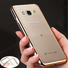 voordelige Galaxy J3 Hoesjes / covers-hoesje Voor Samsung Galaxy J7 Prime / J7 (2017) / J7 (2016) Beplating / Ultradun / transparante Body Achterkant Effen Zacht TPU
