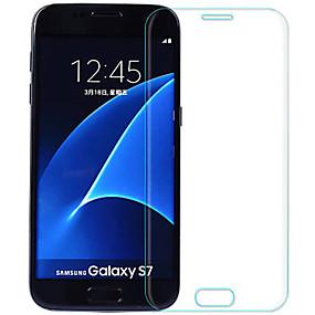 Недорогие Чехлы и кейсы для Galaxy S-Samsung GalaxyScreen ProtectorS7 Уровень защиты 9H Защитная пленка на всё устройство 2 штs Закаленное стекло