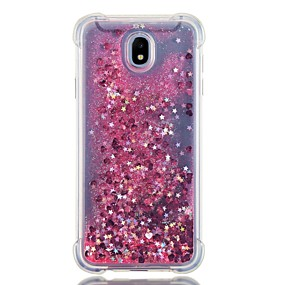 cheap Galaxy J5(2017) Cases / Covers-Case For Samsung Galaxy J7 (2017) / J7 (2016) / J7 Shockproof / Flowing Liquid Back Cover Glitter Shine Soft TPU