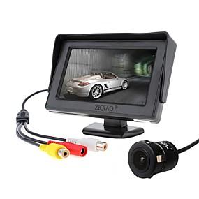 Недорогие Автоэлектроника-ziqiao 4,3-дюймовый монитор и камера заднего вида ccd hd