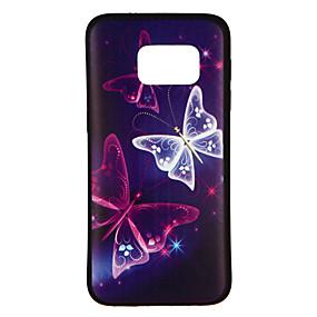 voordelige Galaxy S6 Edge Plus Hoesjes / covers-hoesje Voor Samsung Galaxy S8 / S7 edge / S7 Patroon Achterkant Vlinder Zacht TPU