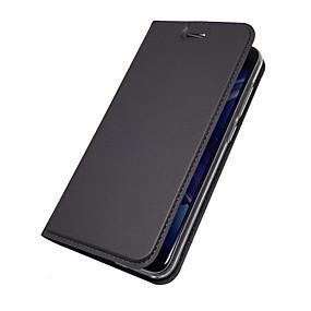 Недорогие Чехлы и кейсы для Huawei Honor-Кейс для Назначение Huawei Honor 9 / Honor 8 / Honor 7X Бумажник для карт / со стендом / Флип Чехол Однотонный Твердый Кожа PU