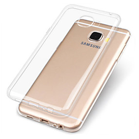 cheap Galaxy A8 Cases / Covers-Case For Samsung Galaxy A3(2017) / A5(2017) / A7(2017) Transparent Back Cover Solid Colored Soft TPU