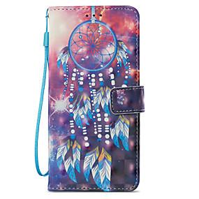 voordelige Galaxy S7 Edge Hoesjes / covers-hoesje Voor Samsung Galaxy S9 / S9 Plus / S8 Plus Portemonnee / Kaarthouder / met standaard Volledig hoesje Dromenvanger Hard PU-nahka