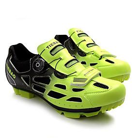 olcso Cipővédő-Tiebao® Mountain bike cipők Szénszál Csúszásgátló Kerékpározás Zöld / Fekete Férfi Biciklis cipők / Lélegző háló / Tépőzár
