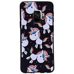 رخيصةأون Galaxy S9 Plus أغطية / كفرات-غطاء من أجل Samsung Galaxy S9 / S9 Plus نموذج غطاء خلفي آحادي القرن ناعم TPU