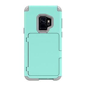 tanie Kupuj wg modelu telefonu-Kılıf Na Samsung Galaxy S9 / S9 Plus Etui na karty / Odporny na wstrząsy / Zbroja Pełne etui Solidne kolory / Zbroja Twardość PC