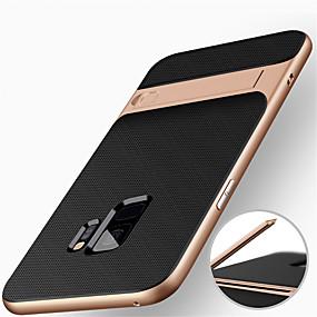voordelige Galaxy S7 Hoesjes / covers-hoesje Voor Samsung Galaxy S9 / S9 Plus / S8 Plus Schokbestendig / met standaard Achterkant Schild Hard PC