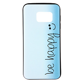 voordelige Galaxy S7 Hoesjes / covers-hoesje Voor Samsung Galaxy S8 / S7 edge / S7 Patroon Achterkant Woord / tekst / Kleurgradatie Zacht TPU