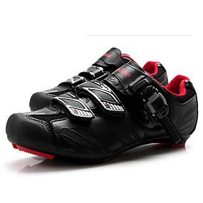 olcso Cipővédő-Tiebao® Utcai kerékpár cipők Szénszál Csúszásgátló Kerékpározás Fekete / vörös Férfi Biciklis cipők / Tépőzár