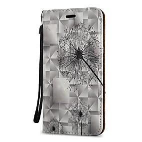 voordelige Galaxy S6 Edge Plus Hoesjes / covers-hoesje Voor Samsung Galaxy S9 / S9 Plus / S8 Plus Portemonnee / Kaarthouder / met standaard Volledig hoesje Paardebloem Hard PU-nahka