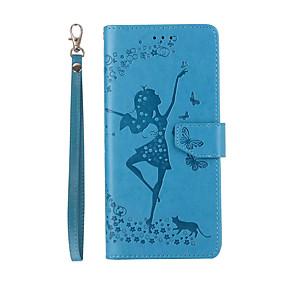 Недорогие Чехлы и кейсы для Galaxy Note 8-Кейс для Назначение SSamsung Galaxy Note 8 Бумажник для карт / со стендом / Флип Чехол Соблазнительная девушка Твердый Кожа PU