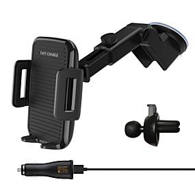 voordelige Autoladers-draadloze autolader snelladen telescopische gsm-houder qi standaard