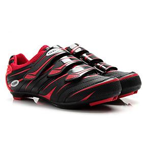 olcso Cipővédő-Tiebao® Utcai kerékpár cipők Szénszál Csúszásgátló Kerékpározás Fekete / vörös Férfi Biciklis cipők / Lélegző háló / Tépőzár