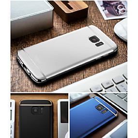 voordelige Galaxy S6 Edge Plus Hoesjes / covers-hoesje Voor Samsung Galaxy S8 Plus / S8 / S7 edge Beplating Achterkant Effen Hard PC